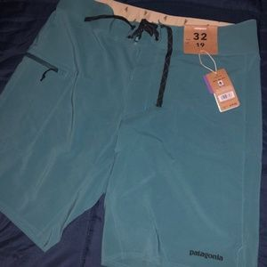 "Patagonia Stretch Planing Boardshorts - 19"" Teal"